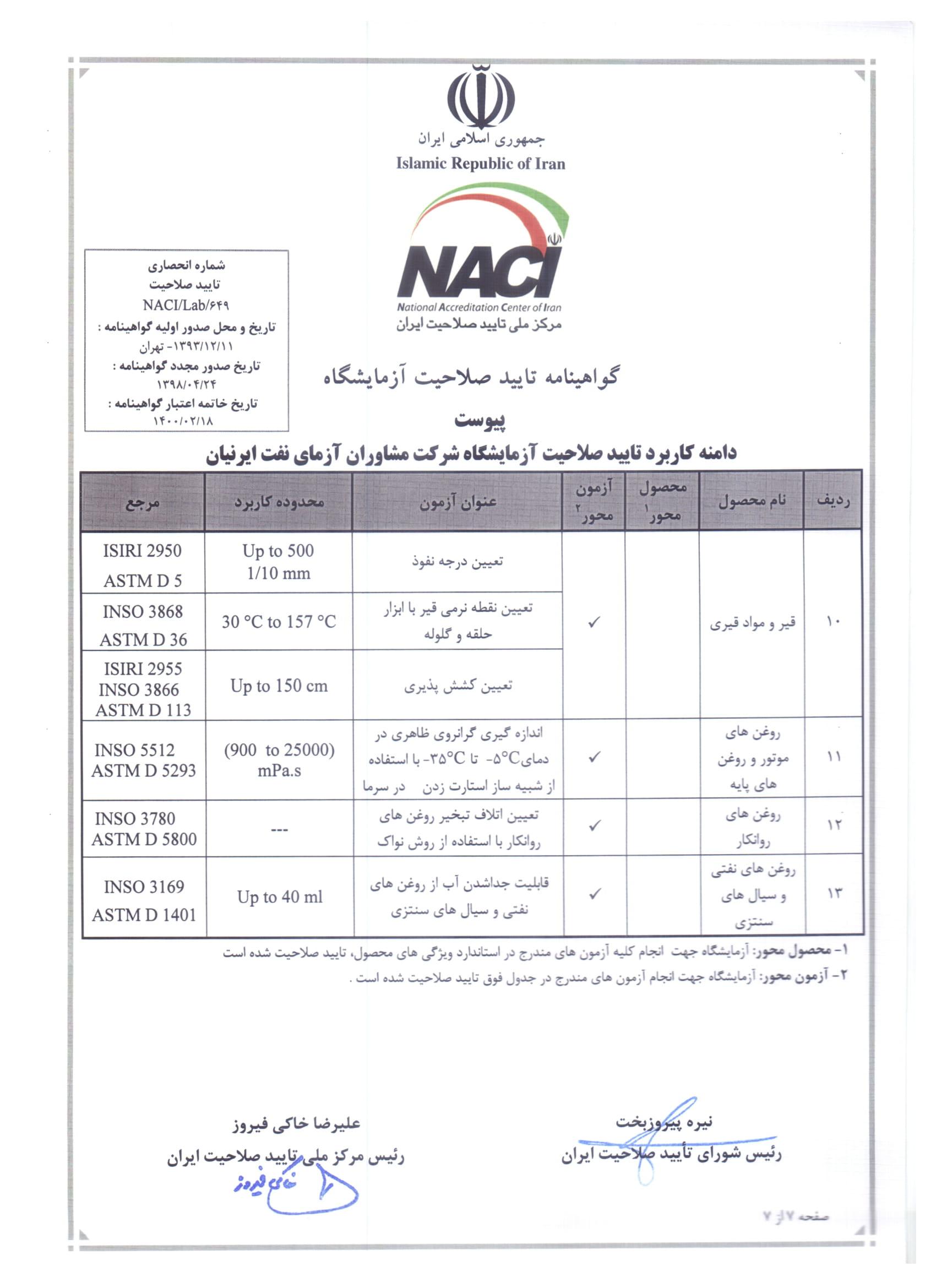 تایید صلاحیت آزمایشگاه (ISO/IEC17025)