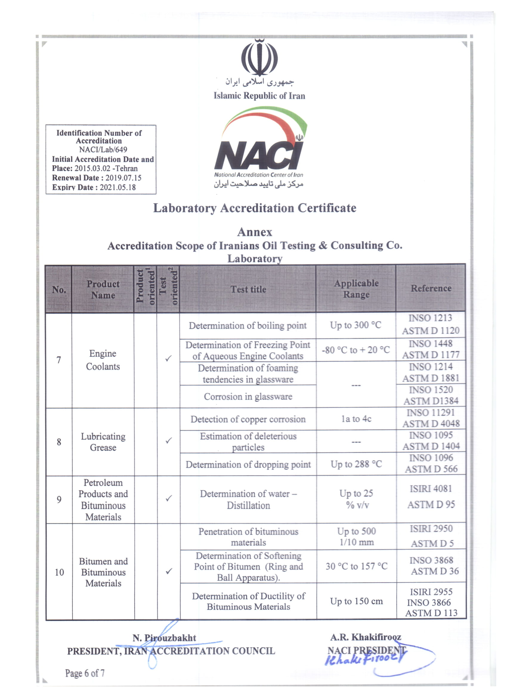 National Accreditation Center of IRAN